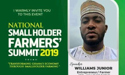 Williams Junior Set To Speak At National Small Holder Farmer's Summit.