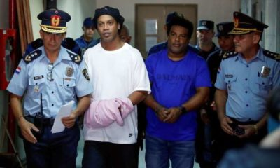 Ronaldinho still in Paraguayan prison and he is not happy.