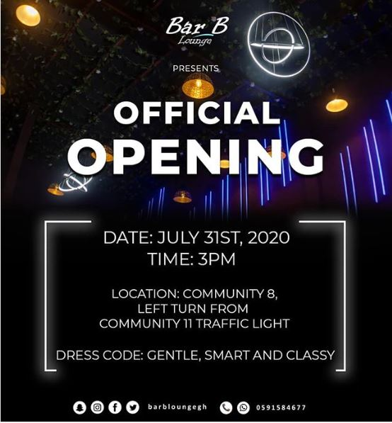 Tema's Premium Lounge,Bar B Is Set To Open 31st July 2020.