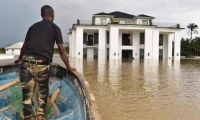 Deputy Speaker Of Delta State House Gets Flooded.